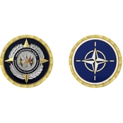 Challenge Coin US EU Command HQ Belgium Coin