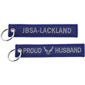 Challenge Coin USAF Proud Husband JBSA Lackland Keychain