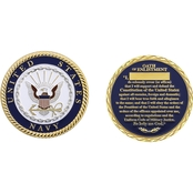 Challenge Coin US Navy Oath Of Enlistment Coin