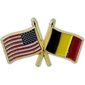 Challenge Coin US Belgium Flags Pin