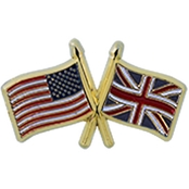 Challenge Coin US England Flags Pin