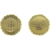 Challenge Coin Camp Buehring Kuwait Towers Coin