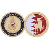 Challenge Coin Naval Support Activity Bahrain Island Coin