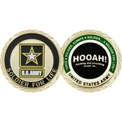 Challenge Coin Army Hooah Soldier for Life Coin