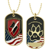 Challenge Coin Working Dog Tag