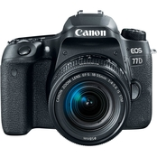 Canon EOS 77D 24.2 DSLR Camera with EF-S 18-55 IS STM Lens Kit