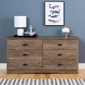 Prepac Salt Spring 6 Drawer Dresser