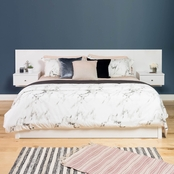 Prepac Floating Headboard with Nightstands