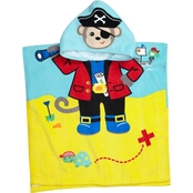 Vitamins Baby Toddler Boys 1 Pc. Hooded Pirate Beach Towel Cover Up