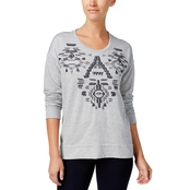 Style & Co Petite Embroidered Embellished Sweatshirt