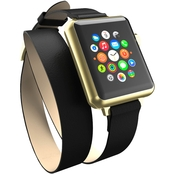 Incipio Reese 42mm Double Wrap Black/Gold Apple Watch Band