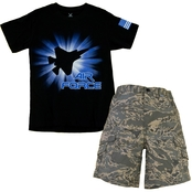 Trooper Clothing Kids Air Force Tee and Short Set