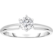 14K Gold 1/4 Ct. Round Solitaire Ring, Size 7