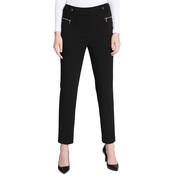 Calvin Klein Collection Buckle Zip Straight Leg Pants