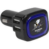 QuikVolt Navy Seabees 4 Port USB Car Charger Black
