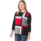 Alfred Dunner Colorblock Sweater