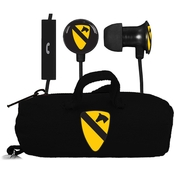 AudioSpice 1st Cavalry Division Scorch Earbuds +Mic, Clamshell with BudBag