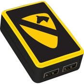 QuikVolt 1st Cavalry Division WP 200X Dual Port USB Wall Charger