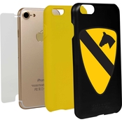 Guard Dog 1st Cavalry Division Logo Hybrid Case for iPhone 7 with Guard Glass