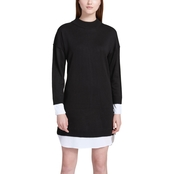 Calvin Klein Collection Sweater Dress with Shirting