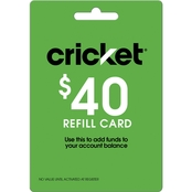 Cricket $40 Refill Gift Card