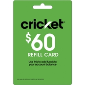 Cricket $60 Refill Gift Card