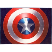 Marvel Captain America Blue Shield Area Rug