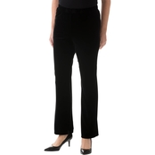 Alfred Dunner Proportioned Short Knit Velvet Pants