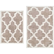 Chesapeake Merchandising Quatrefoil 2 Pc. Cotton Rug Set