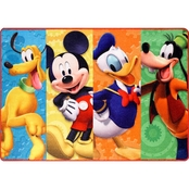 Disney Mickey Mouse Club House Patchwork Area Rug