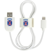 QuikVolt 10th Mountain Division Lightning USB Cable with QuikClip