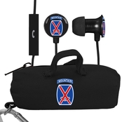 AudioSpice 10th Mountain Division Scorch Earbuds with Mic and BudBag