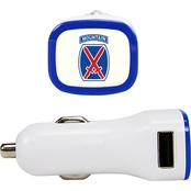 QuikVolt 10th Mountain Division 2 Port USB Car Charger