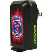 QuikVolt 10th Mountain Division 2 in 1 Car/Wall Charger Combo