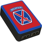 QuikVolt 10th Mountain Division Dual Port USB Wall Charger