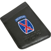 Guard Dog 10th Mountain Division Card Keeper RFID Protected Leather Phone Wallet