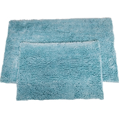 Chesapeake Merchandising Microfiber Shiny Noodle 2 pc. Bath Rug Set