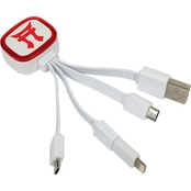 QuikVolt 187th Infantry Regiment Tri Charge USB Cable with Lightning Adapter