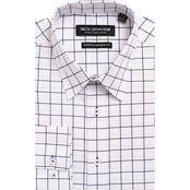Nick Graham Modern Fitted Performance Stretch Windowpane Check Shirt