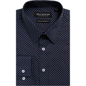 Nick Graham Modern Fitted Performance Stretch Printed Dot Shirt