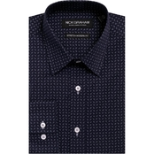 Nick Graham Modern Fitted Performance Stretch Paislet Print Shirt