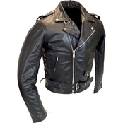 Vance Leathers Top Grain Men's Leather Classic Motorcycle Jacket
