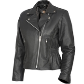 Vance Leathers Ladies Premium Leather Motorcycle Jacket