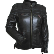 Vance Leathers Premium Ladies Leather Racer Jacket
