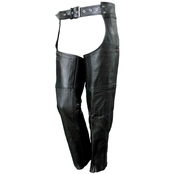 Vance Leathers Black Premium Leather Chaps