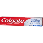 Colgate Whitening Toothpaste with Baking Soda and Peroxide Brisk Mint, 6 Oz.