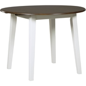 Signature Design by Ashley Woodanville Round Drop Leaf Table