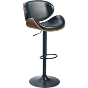 Signature Design by Ashley Adjustable Height Swivel Bar Stool with Scoop Seat