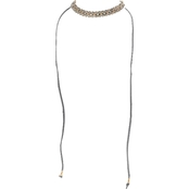 Panacea Adjustable Grey Suede Wrap Necklace