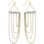 Panacea Grey Crystal Chandelier Earrings
